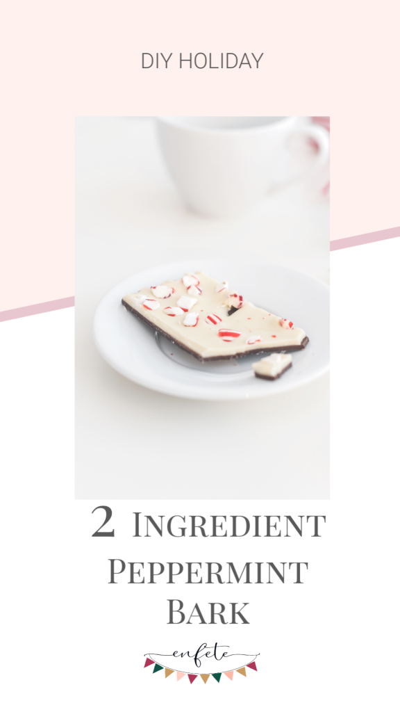2 ingredient peppermint bark for diy christmas gifts