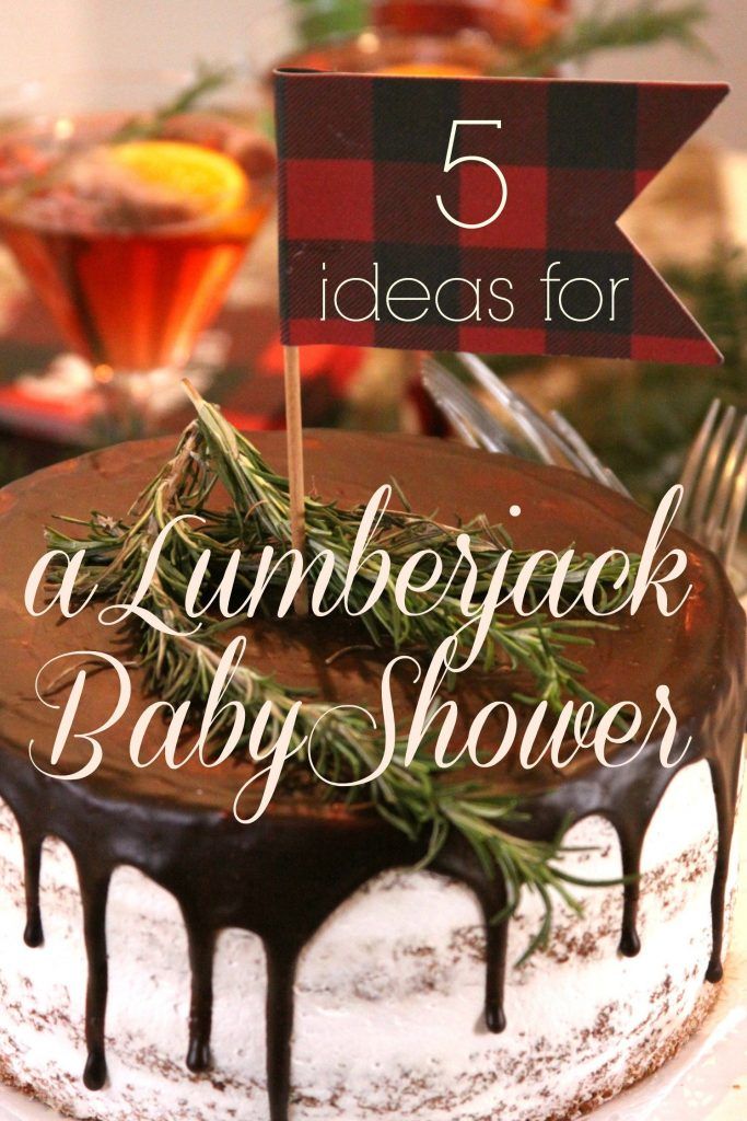 Lumberjack Baby Shower Ideas by EnFete Party Supplies - the perfect winter baby boy shower.