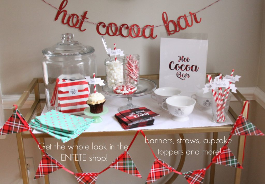 Hot Chocolate Bar Set Up