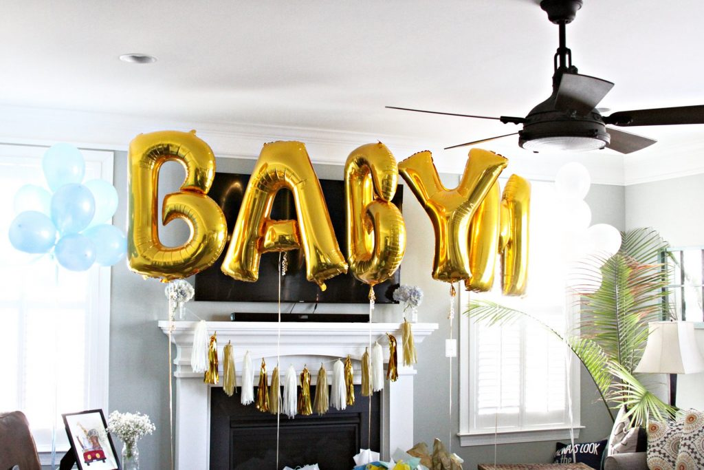 giant baby balloons for Baby It's Cold Outside Baby shower