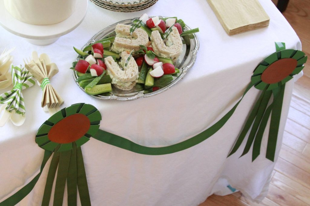 Horse show ribbon garland for Kentucky Derby Party