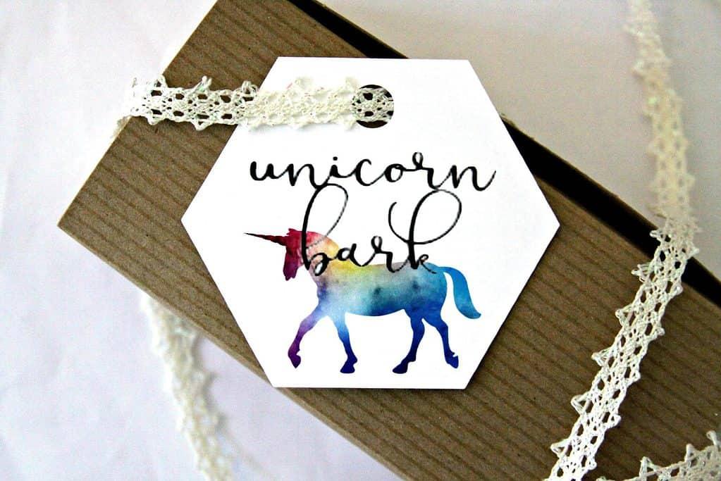 Unicorn Bark Packaging Tag