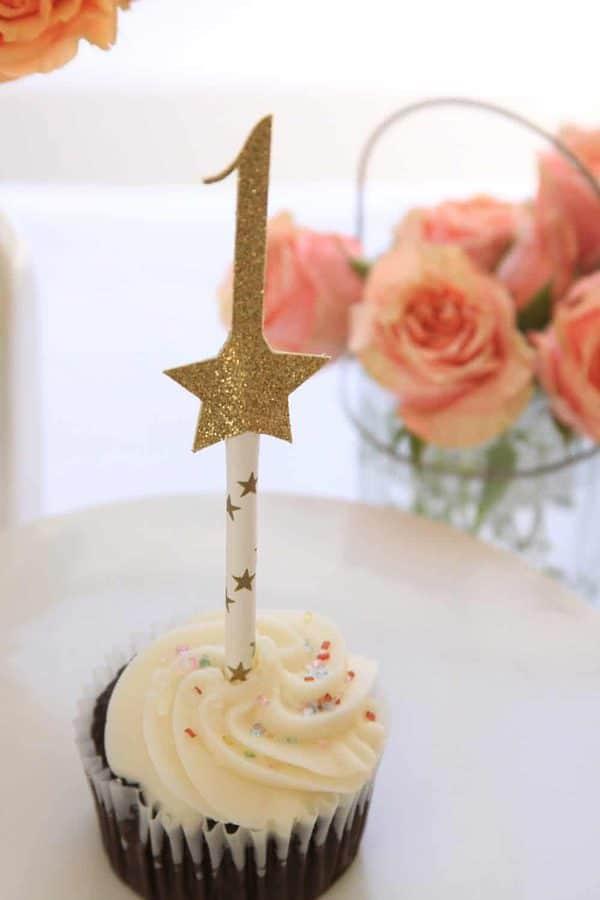 twinkle twinkle 1st birthday cake topper