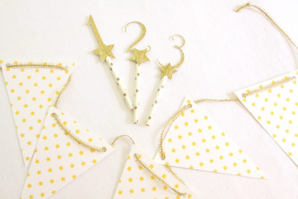 Twinkle Twinkle number toppers and star garland