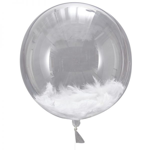 Big Round Feather Balloons set of 3