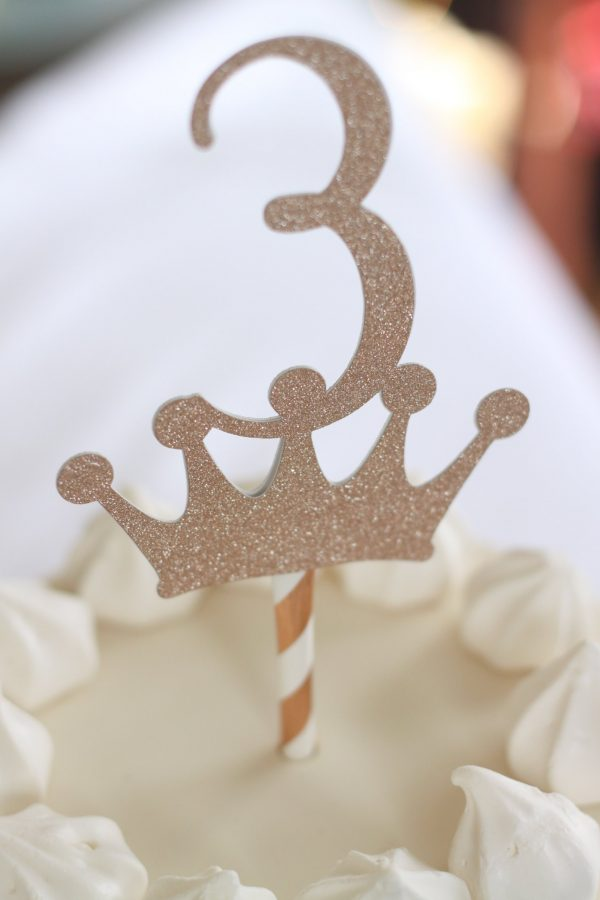 3rd birthday princess cake topper