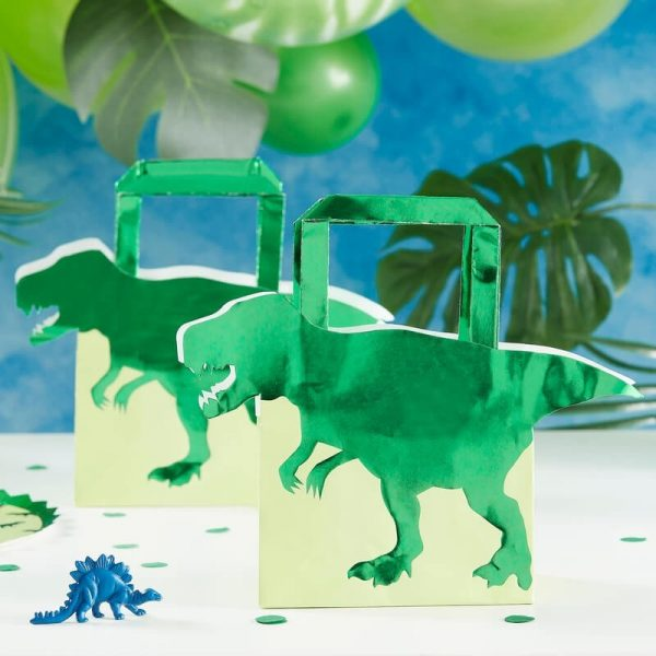 5 Dinosaur Party Favor Bags