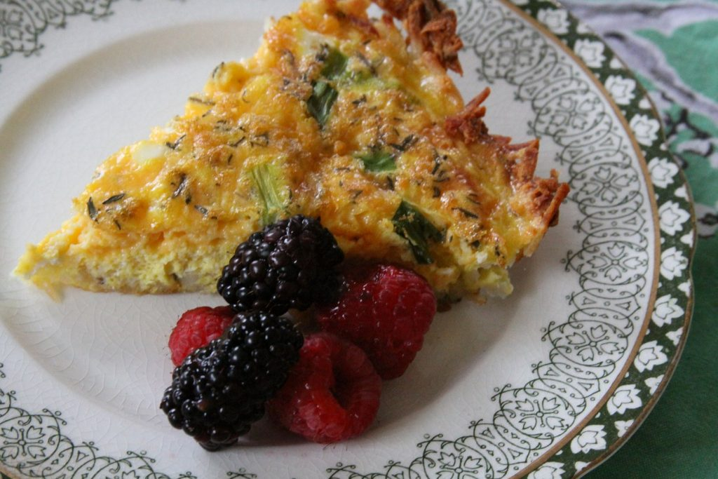 Gluten Free Hashbrown Crust Quiche