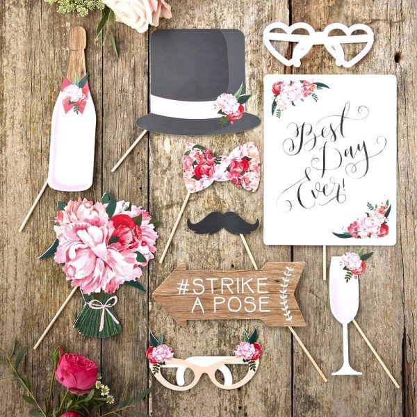 Boho Wedding Photo Props also work for Derby Parties
