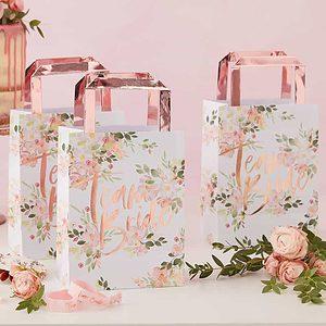 Floral team bride bags for bridal shower favors
