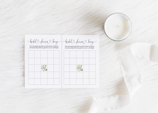 Bridal Shower Bingo Cards to Print at Home by EnFete