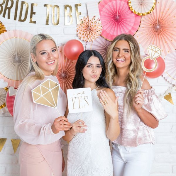 Bride to Be bridal shower photo booth props she said yes