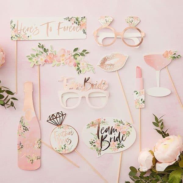 Floral Bridal Shower Photo props