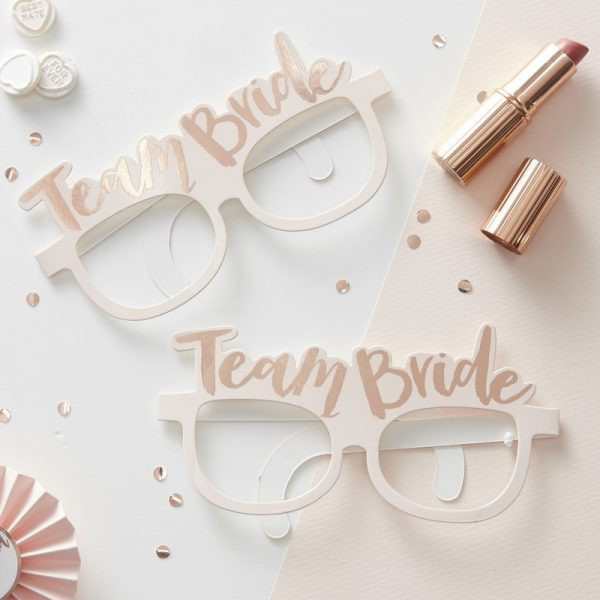 Team Bride Glasses to be used as Bridal Shower Photo Props