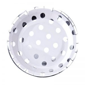 Bride and Co Silver Polka Dot Paper Plates