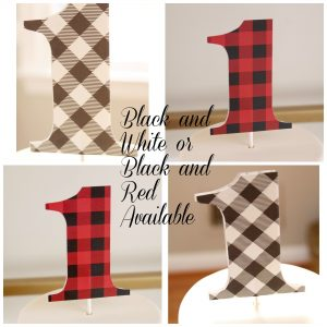 Buffalo Check 1st Birthday Topper