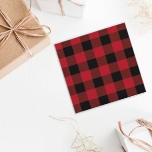 Lumberjack Party napkins for Christmas 2019 trends