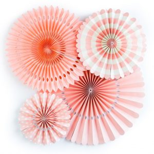 Coral Flamingo Party Fans