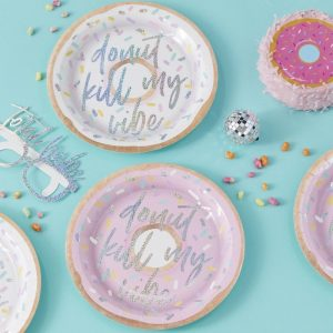Donut Kill My Vibe Donut Themed Plates