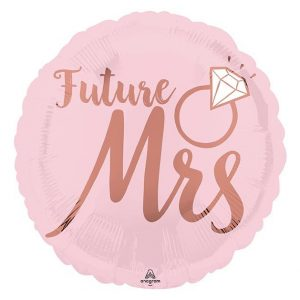 Future Mrs She Said Yes Balloon in pink and rose gold for a bridal shower