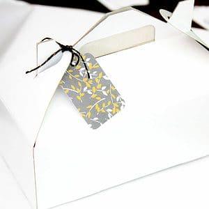 Set of 6 White Gable boxes
