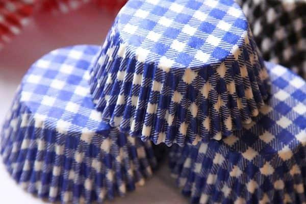 Blue Gingham Cupcake Wrapper