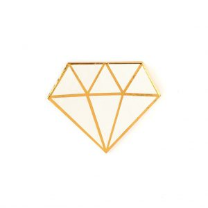 Gold Diamond-Shaped Bridal Shower or Engagement Party Cocktail Napkins