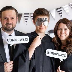 Black and White graduation photo props #graduate Grad glasses