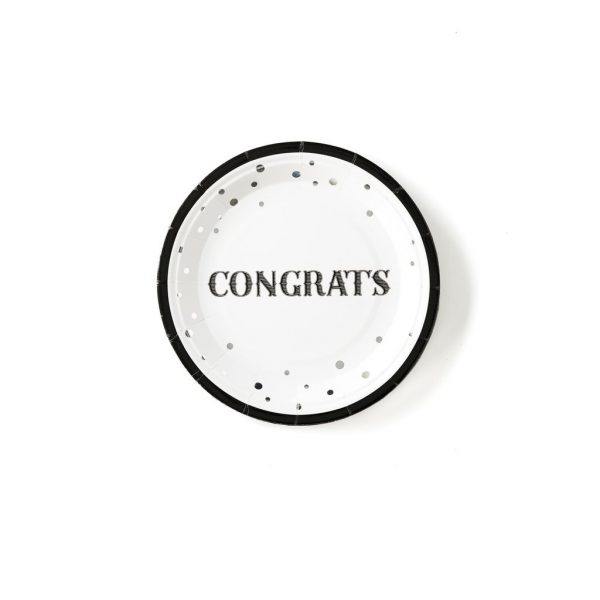 Congrats plates - perfect for a graduation, promotion or retirement