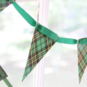 Holiday gift wrapping party decor - banner that looks like scotch tape