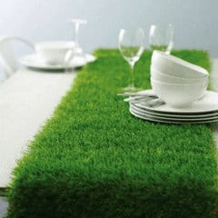 Fake Grass Table runner perfect for a Kentucky Derby Party of Masters Golf