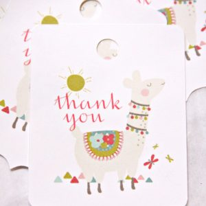 Llama Mama Thank you tags