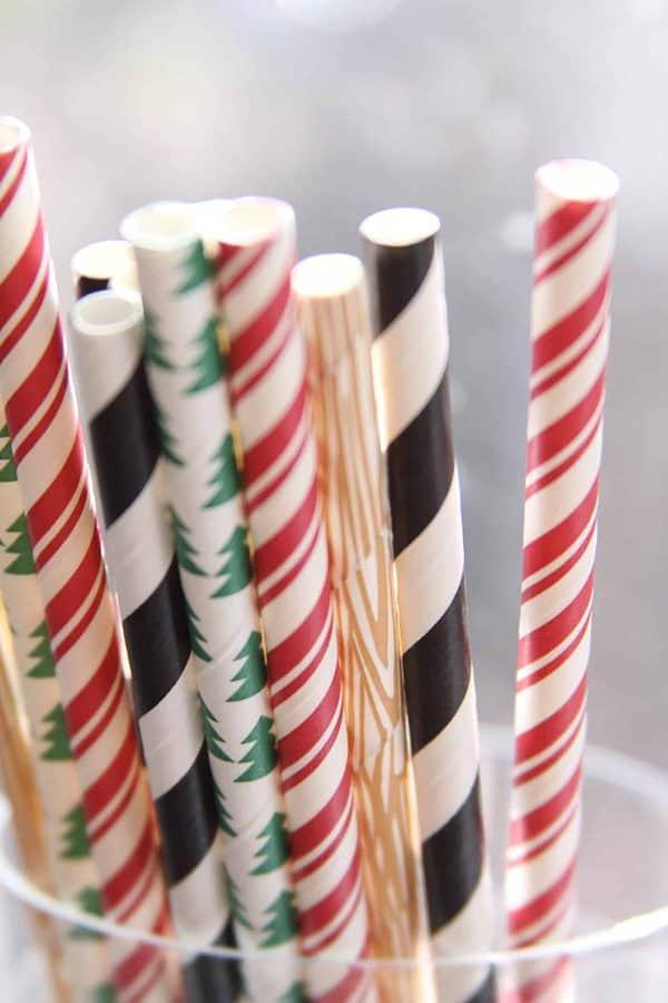lumberjack christmas straws