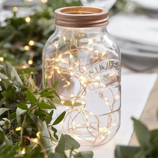 Rose gold and copper fairy lights for Christmas and weddings