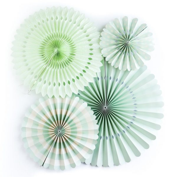 Mint Party Backdrop Fans Mint to Be