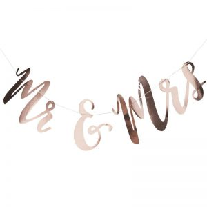 Rose Gold Mr and Mrs Sign