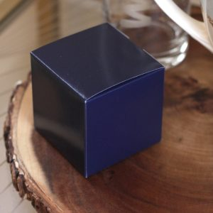 Navy Wedding Favor Boxes