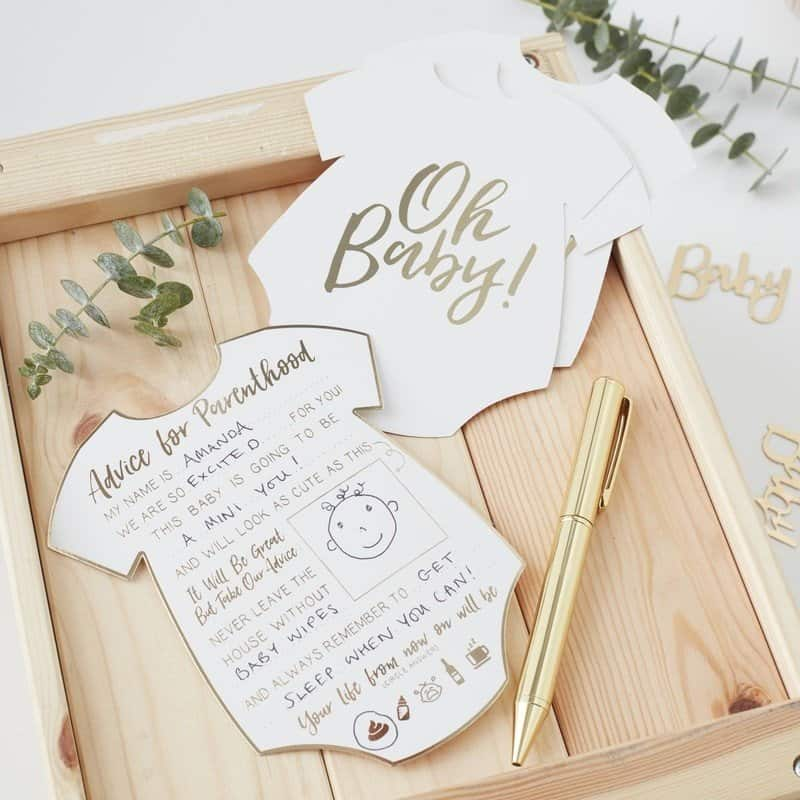 Oh Baby Onesie Advice Baby Shower Game