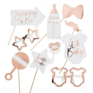 rose gold oh baby shower props