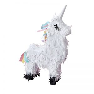 Unicorn pinata with eyelashes for a birthday party mini