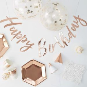 Rose Gold Birthday Party in a Box