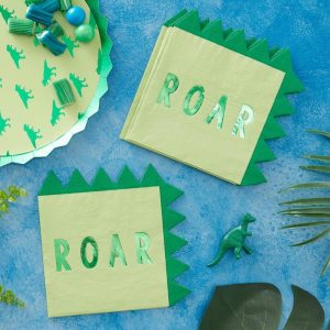 Dinosaur plates and napkins for a dinosaur birthday party - find lots of dinosaur-themed items with EnFete