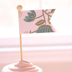 shabby chic cake or cupcake topper for a baby shower