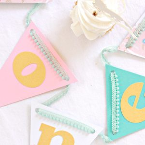 High End Unicorn Party Decorations - hand made banner by EnFete