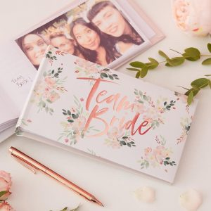 Team Bride Bridal Shower Photo Guest Book