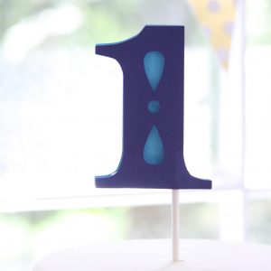 number 1 cake topper for a boy
