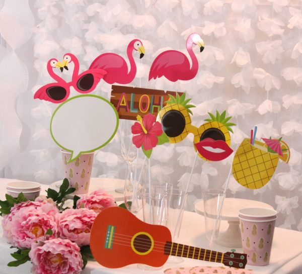 Tropical Party Photo Props - Luau