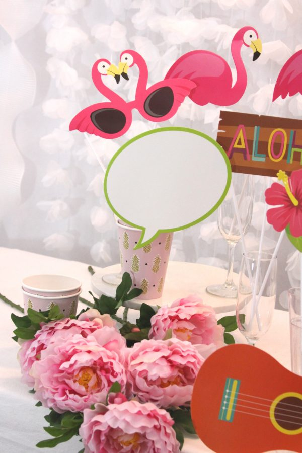 Let's Flamingle Tropical Party Photo Booth Props