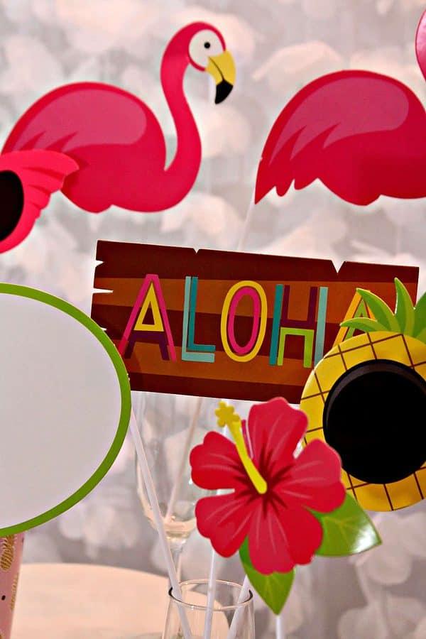 Aloha photo props