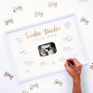Twinkle Twinkle Little Star Baby Shower Alternative Guest Book Ultrasound Frame